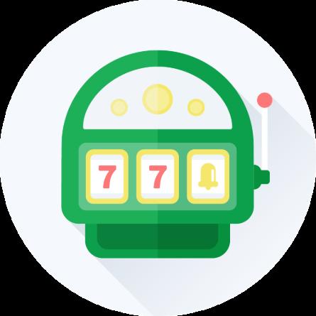Grøn spilleautomat