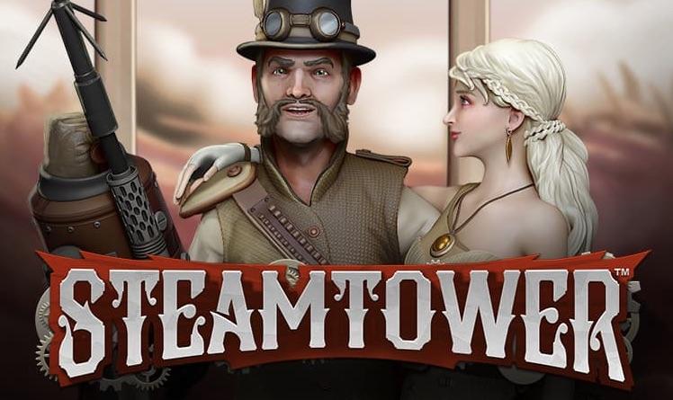 Steamtower banner med logo