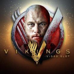 Vikings spilleautomat Logo med Ragnar Lothbrok