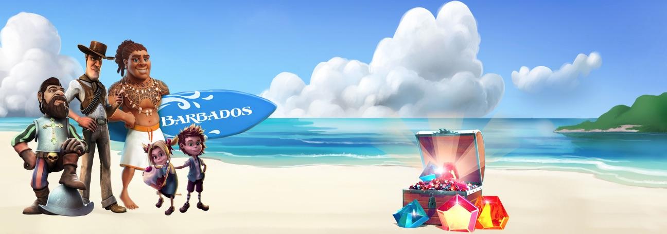 Barbados karakterer på stranden