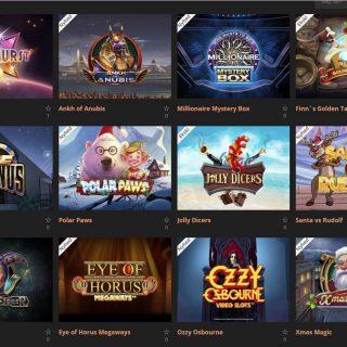 Highroller Casino spilleautomater udvalg