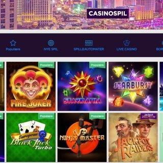 Lucky Vegas spiludvalg