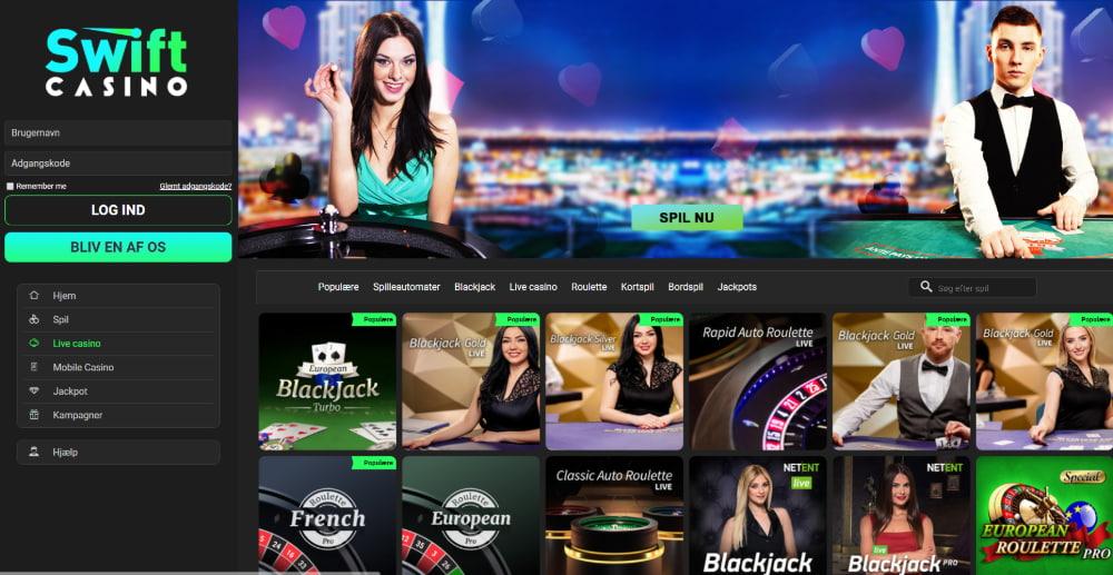 Swift Casino Live Casino