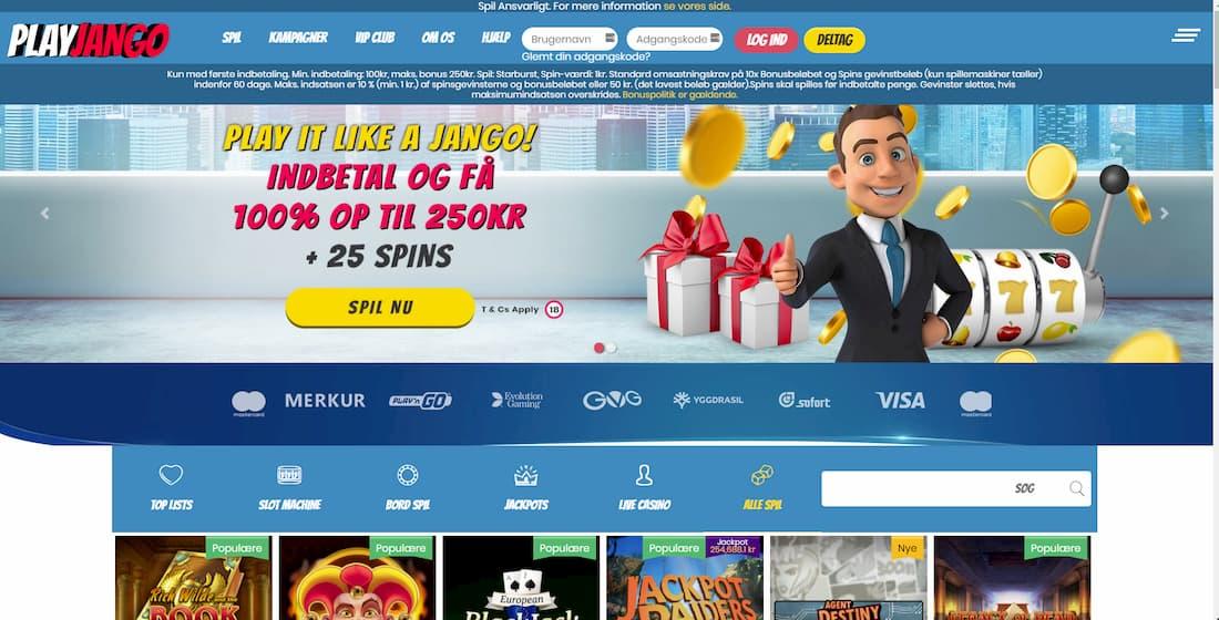 PlayJango hjemmeside
