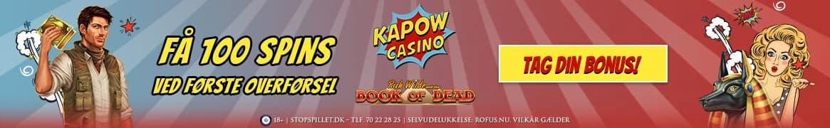 Kapow Casino Banner