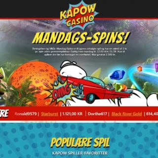 Kapow Casino hjemmeside