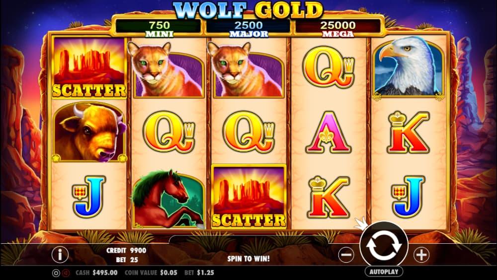 Wolf Gold Spilleplade