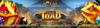 Fire Toad hos Royal Casino Banner
