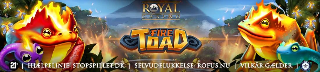 Få 100 Chancer til det nye Fire Toad fra Play'n GO