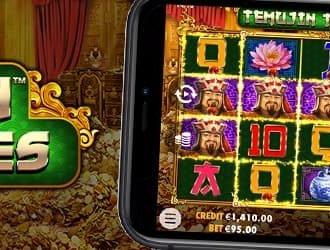 Spil på den nye Temujin Treasures jackpot spilleautomat her