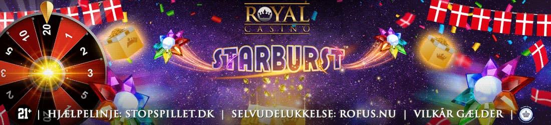 Royal Casino fejres med Gratis Chancer til Starburst