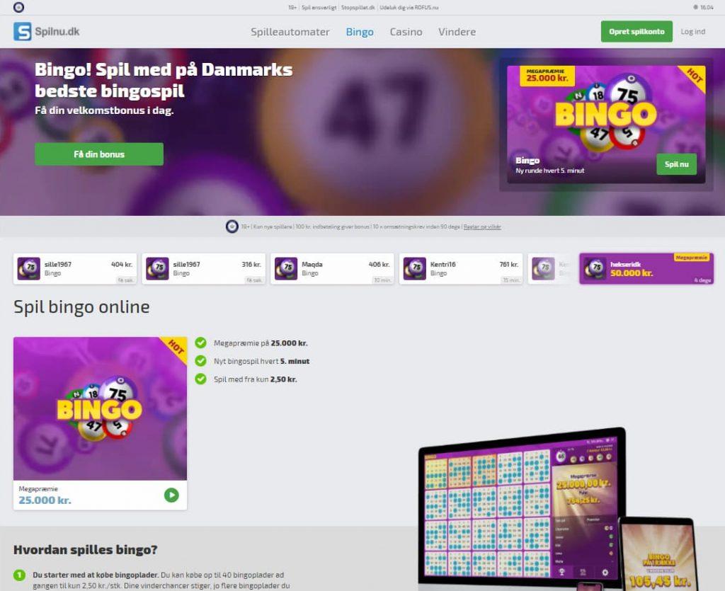 Spilnu.dk Bingo